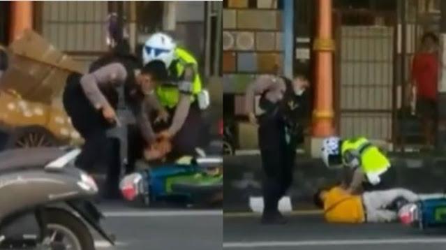 Viral Video Polisi Kejar Pemotor Pelanggar Lalu Lintas di Sukoharjo