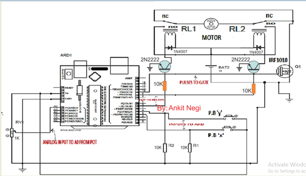 High Current Motor Control using Arduino