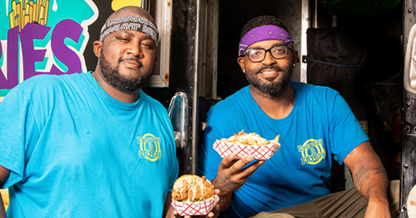 Jamie Barnes and Greg Williams, founders of What The Fries