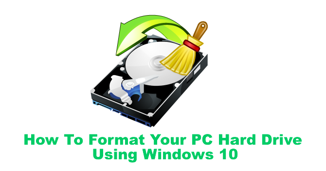how to reformat external hard drive windows 10