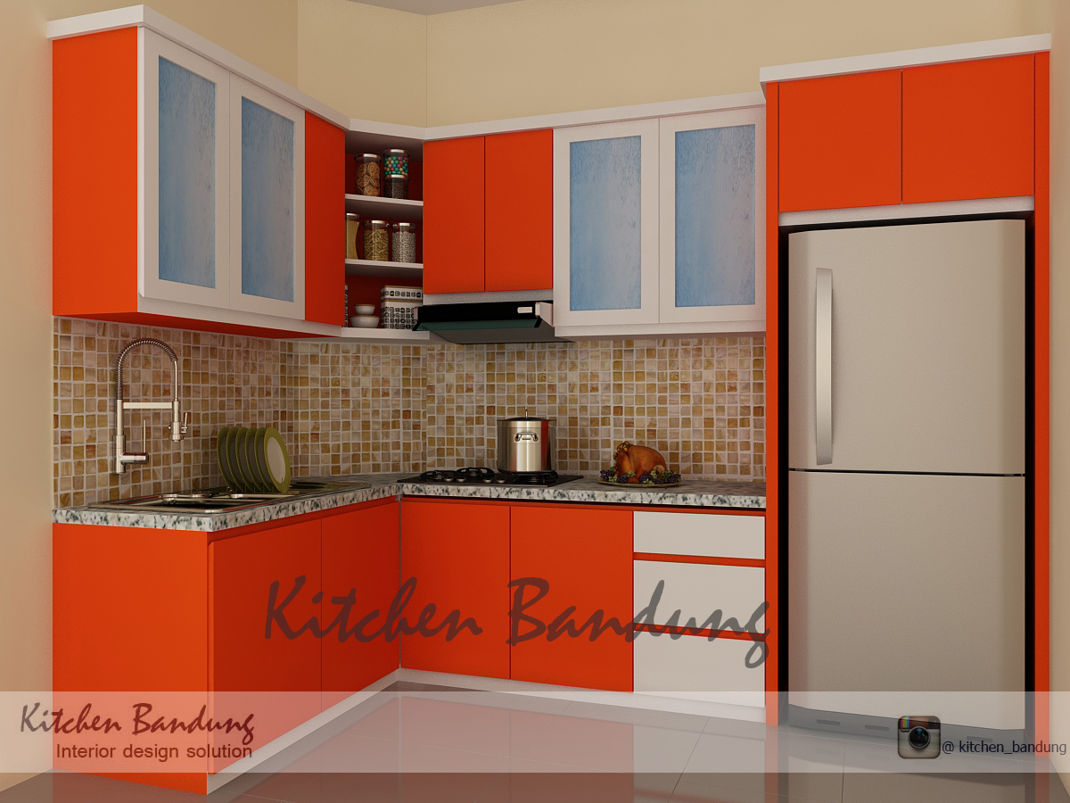 Ruang Keluarga Dan Kitchen Set Kitchen Bandung