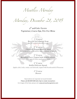 Meatless Monday at 9th & Coles Tavern: 12.21.15