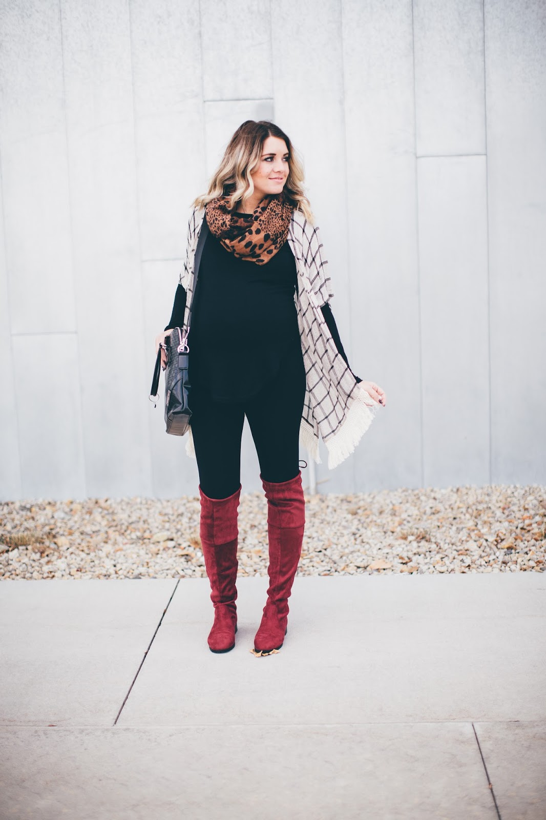 Fall Maternity Outfit, Utah Fashion Blogger, Choies, Pink Blush