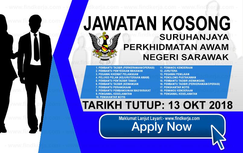 Jawatan Kerja Kosong SPANS - Suruhanjaya Perkhidmatan Awam Negeri Sarawak logo www.ohjob.info www.findkerja.com oktober 2018
