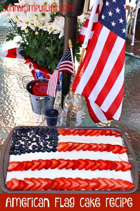 Jello poke cake, patriotic cake, patriotic dessert