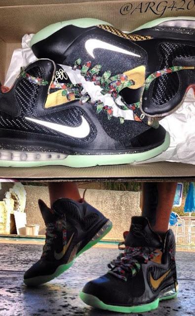 THE SNEAKER ADDICT: Nike Lebron 9 Watch The Throne Glow In ...