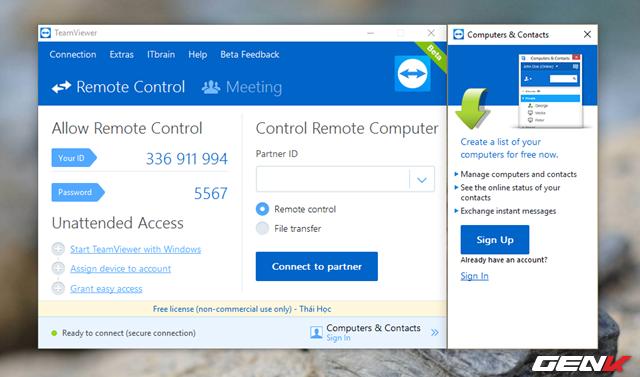 TeamViewer 12 Beta, tốc độ nhanh gấp 20 lần phiên bản củ - VanThangIt.Com