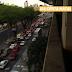 Trânsito carregado na Salgado Filho próximo ao cruzamento com a Bernardo Vieira.