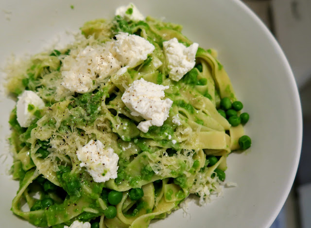 Peas, Pappardelle, Parmesan from Nigel Slater's Greenfeast: spring, summer | salt sugar and i | Dani Elis