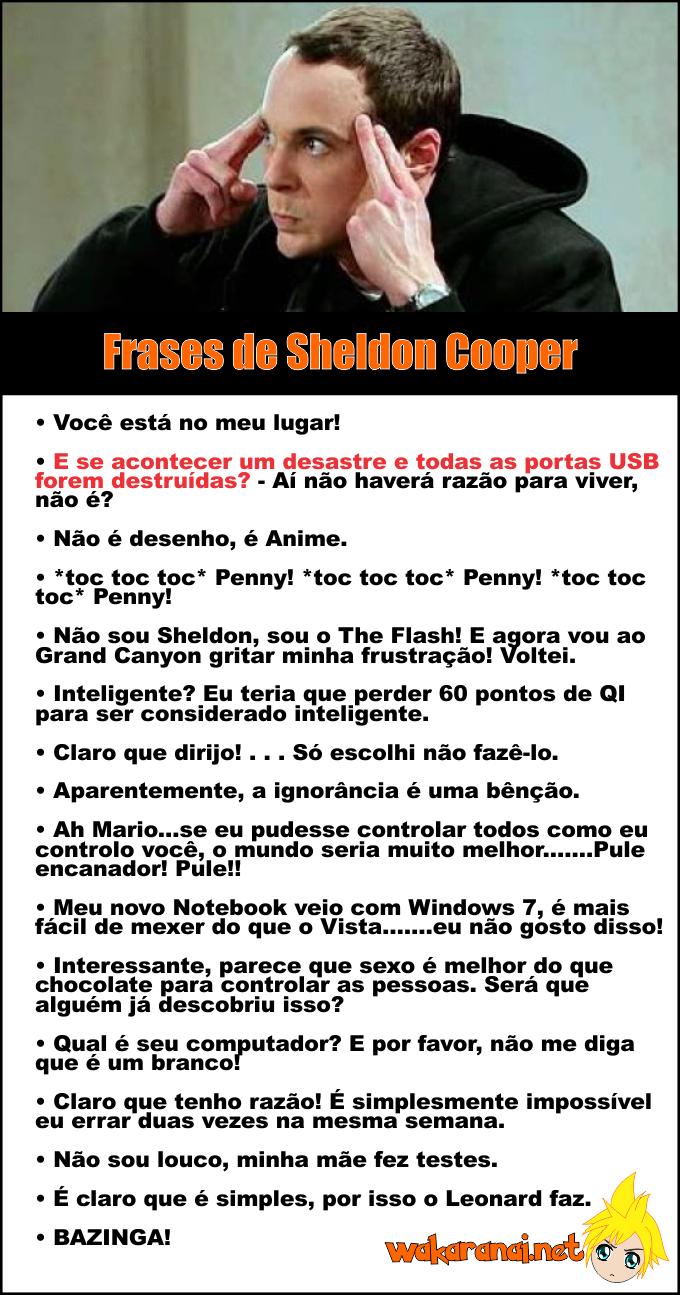 Wakaranai Nós Sabemos Do Que Você Gosta Frases De Sheldon