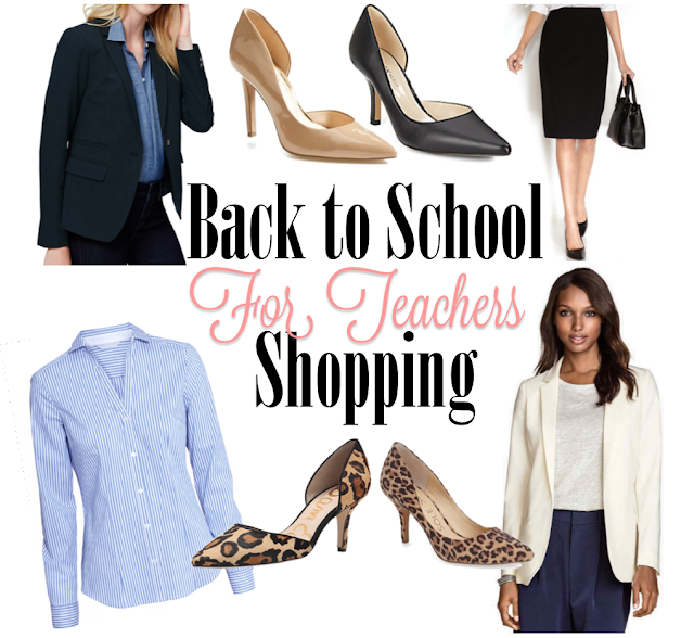 Back to School Shopping for Teachers Teacher Outfits First day of school
