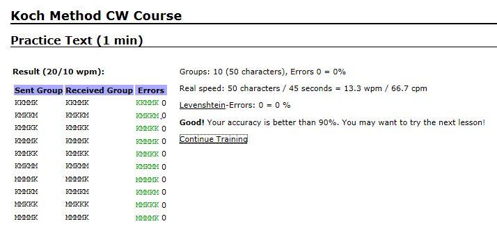 Learning Morse Code Online