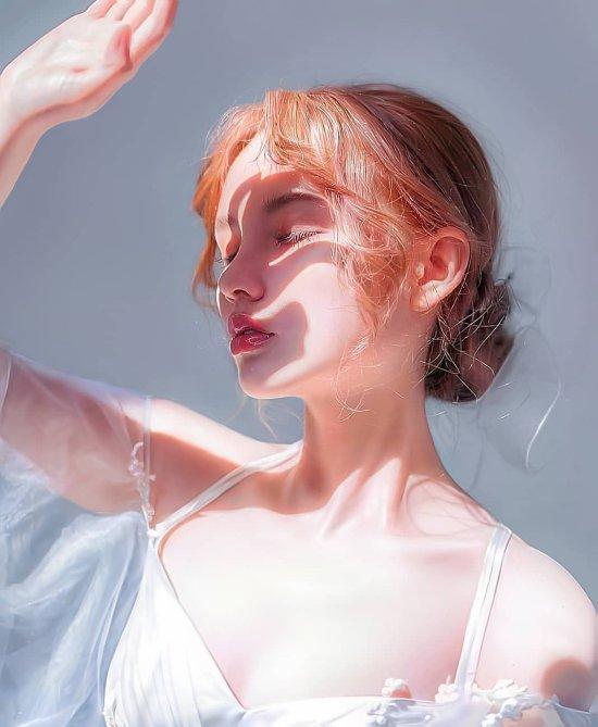 Irakli Nadar artstation instagram arte pinturas mulheres animes foto-realista beleza