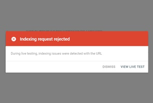 Cara Mengatasi Indexing Request Rejected di Google Webmasters