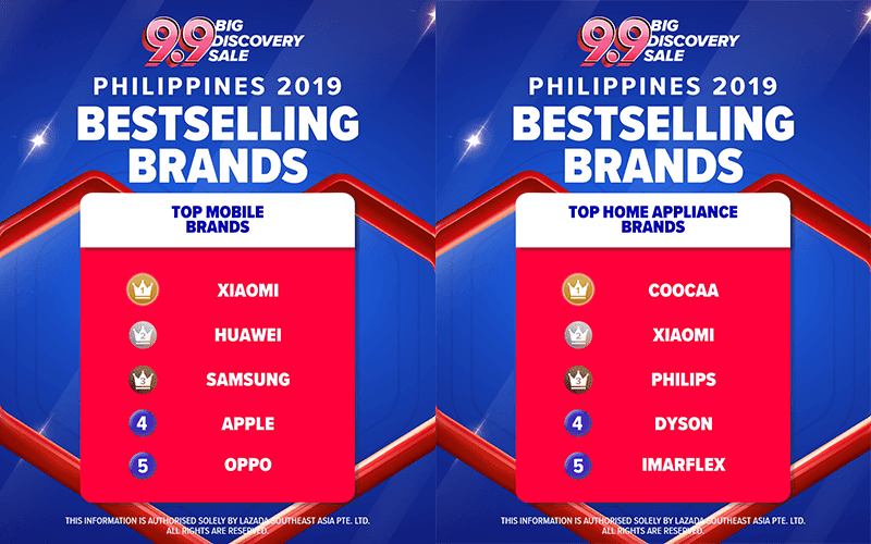 Top brands at Lazada's 9.9 sale