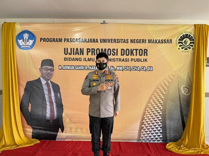Kabid Humas Polda Sulsel, Hadiri Promosi Doktor Kepala Perwakilan BPKP Provinsi Sulsel