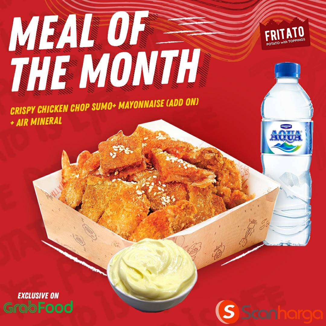 Fritato Promo Meal Of The Month hanya 60K via aplikasi GRABFOOD