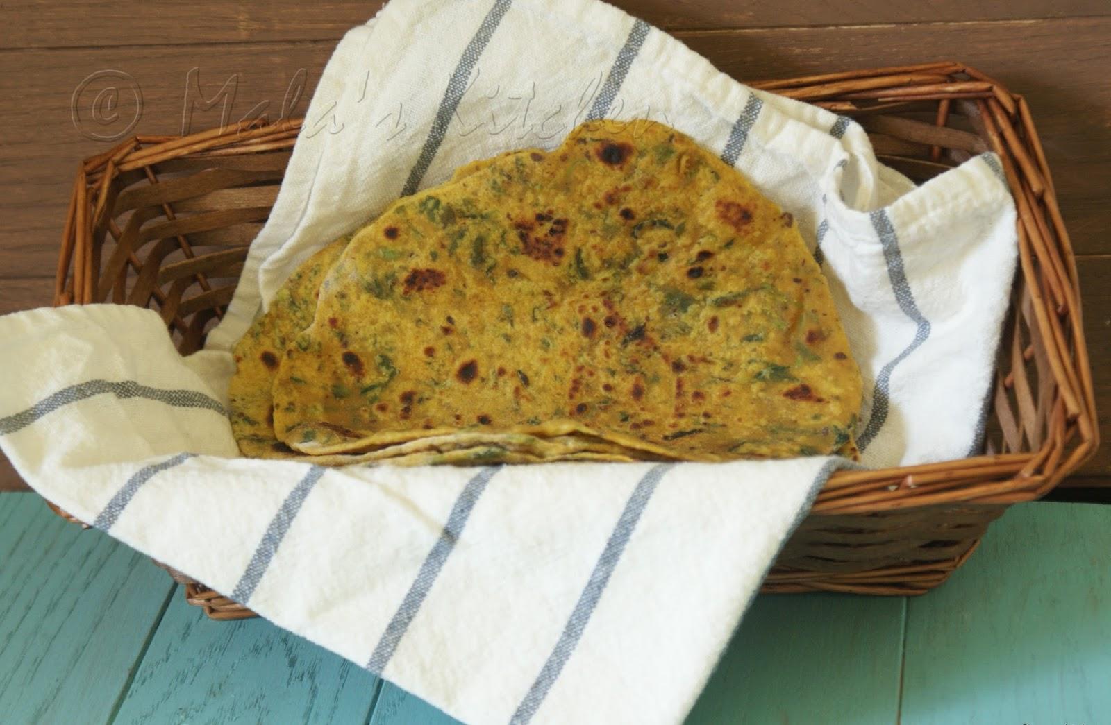 Methi Paratha Hebbar S Kitchen
