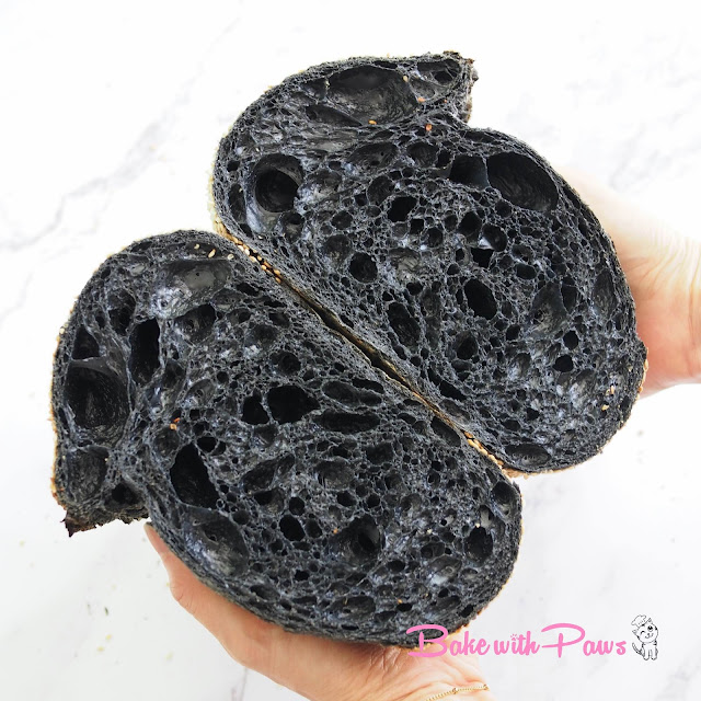 Charcoal Open Crumb Sourdough Bread