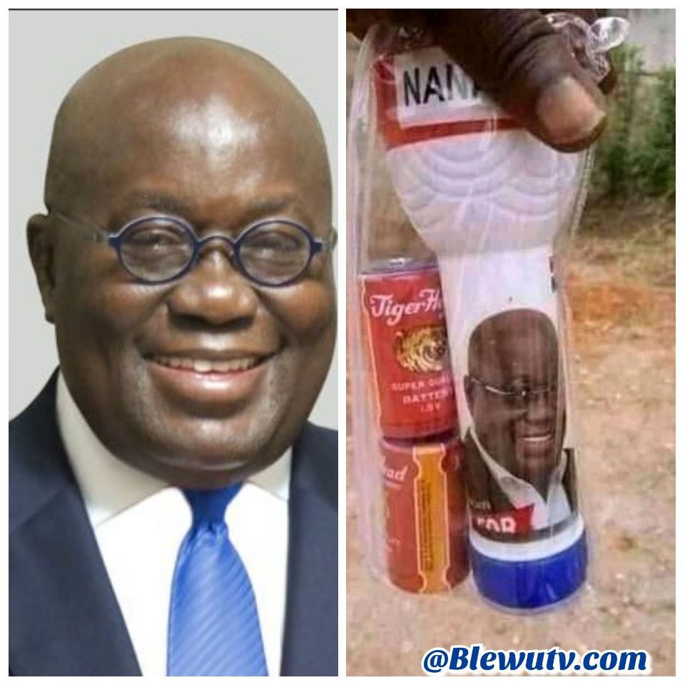 Dumsor Torchlight with Nana Addo's picture Trends online.