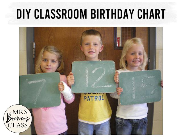 DIY Classroom Birthday Chart in Kindergarten