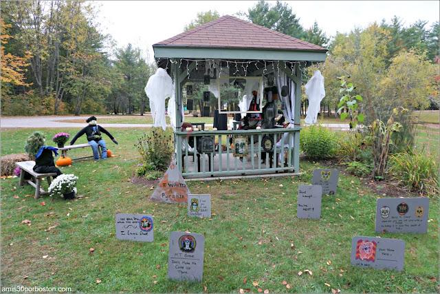 Boda en el Return of the Pumpkin People de Jackson en New Hampshire