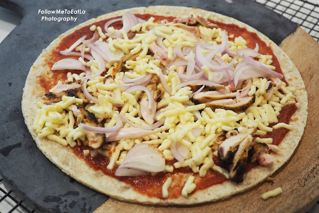 Tandoori Chicken Pizza with Sour Cream and Onion Ready For The Oven
