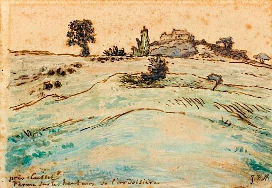 Жан Франсуа Милле - Ферма на холмах близ Куссеты