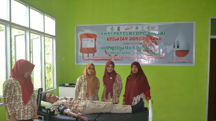 Peringati HKN, Puskesmas Samaenre Gandeng Patelki   Gelar Donor Darah