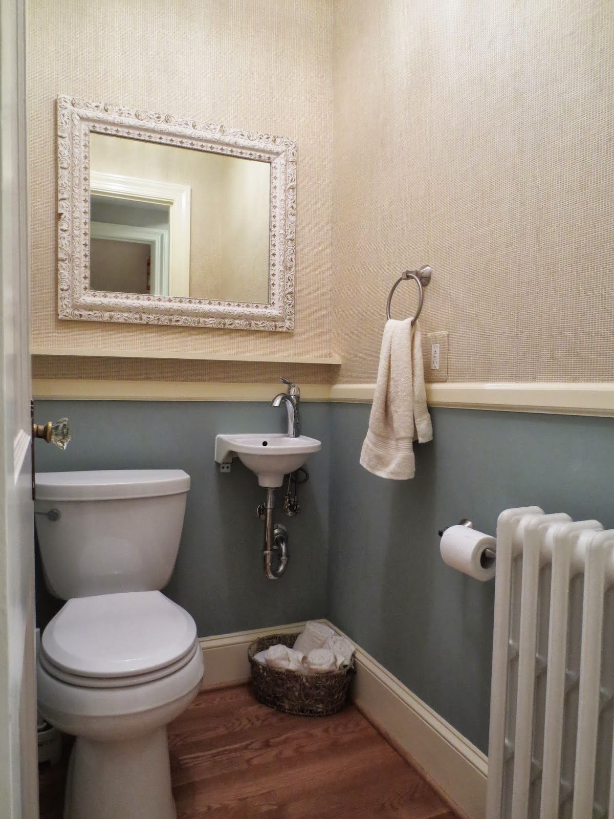 pictures of chair rails in bathrooms top gaming chairs row house refuge 1960 39s powder room updated