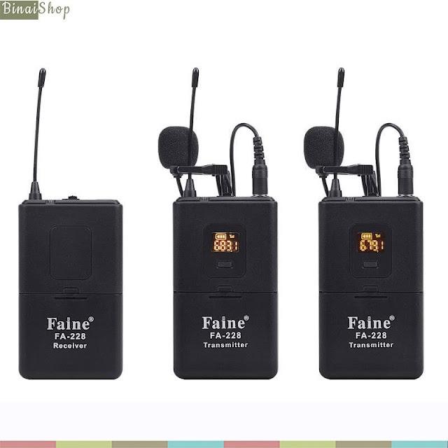 Micro không dây VHF cho máy ảnh Faine FA-228