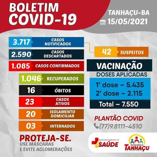 Tanhaçu registra 16º óbito por complicações da Covid-19