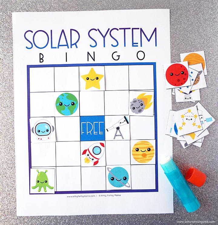Free Printable Solar System Bingo Blank Set
