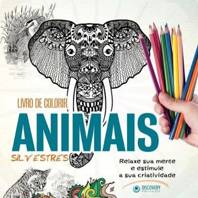 Livro de colorir, livro de colorir animais silvestres, livro de colorir para crianças, livro, colorir, lápis de cor, livros para colorir, livros para pintar, pintura em livros, aquarela