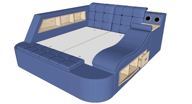 Mẫu giường đa chức năng kết hợp trong một