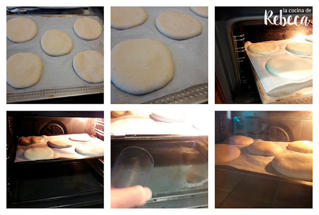 Receta de pan tipo mollete: horneado de los panes