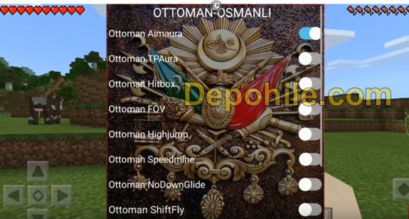 Minecraft PE Ottoman v2 Client  FLY,Aura Hilesi İndir Haziran 2019