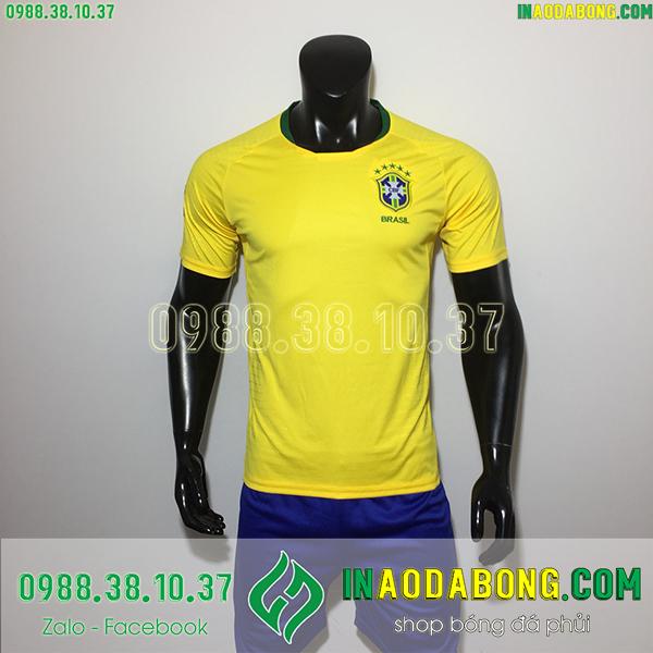 Áo bóng đá đội tuyển Brazil màu vàng