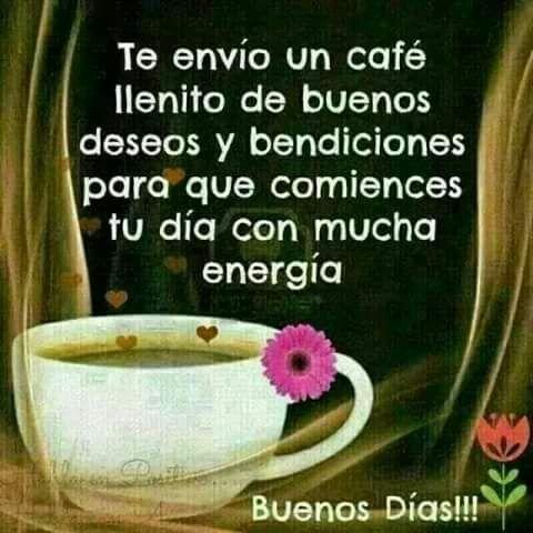 imagen Buenos días   Te envió un café