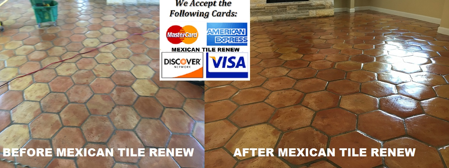 Mexican tile renew sarasota fl cleaning sealing never use vinegar to clean a mexican tile floor vinegar is an acid and will pit and destroy the finish on your mexican tile floor dailygadgetfo Choice Image