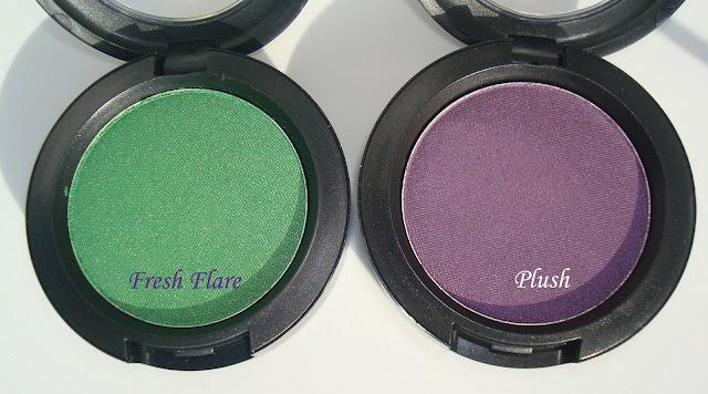 Mac  Fresh Flare &  Plush Eyeshadows