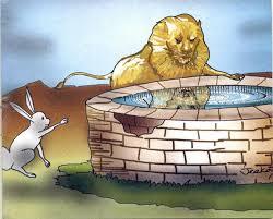 singa dan kelinci
