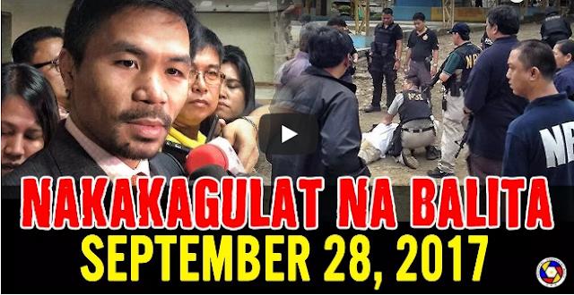 Nakakagulat Na Balita Ngayon September 28, 2017 - Sen. Manny Pacquiao | Trillanes | Pres. Duterte