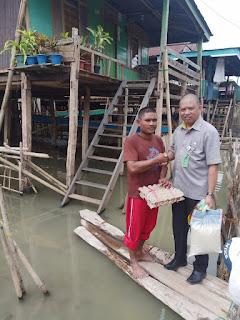 Peduli Korban Banjir di Wajo, DPC Serikat Pekerja BPJS Ketenagakerjaan Kantor Cabang Makassar Salurkan Sembako