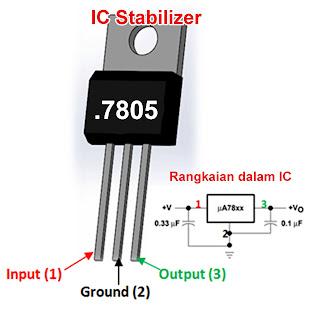 Cara Memasang IC 7805 yang Benar