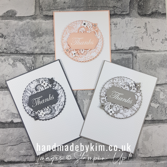 Peony Garden DSP Thank You Cards Trio Stampin' Up!