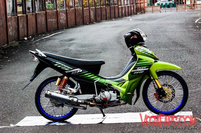 Modifikasi Jupiter Z Hijau Hitam Modif Simple
