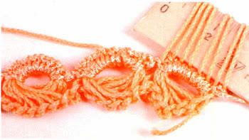 Punto Crochet Media Luna Escoba con Regla