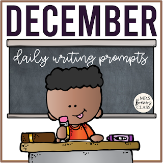 December writing templates for daily journal writing or a writing center in Kindergarten First Grade Second Grade