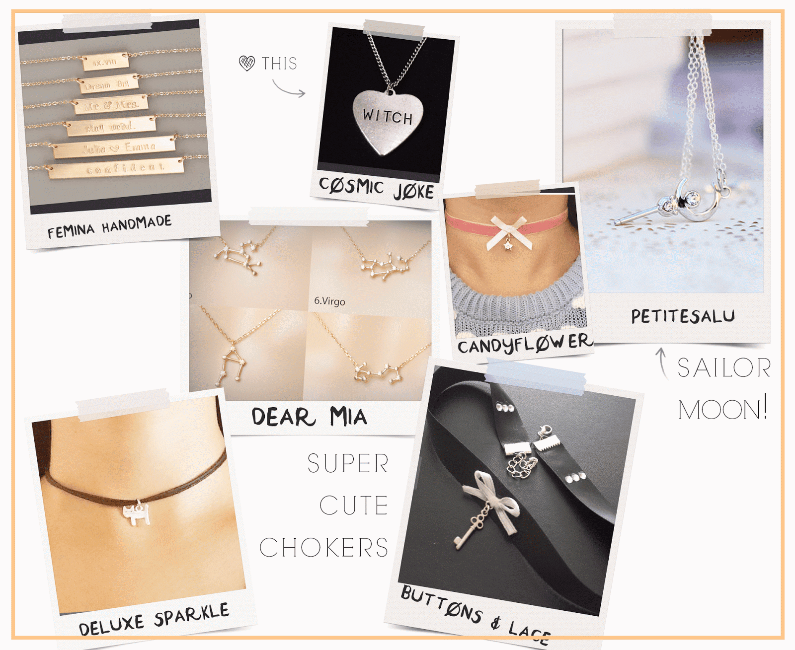 small business gift guide cute necklaces chokers